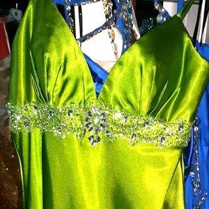 Ombre satin dress